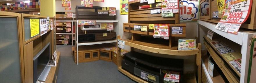 TVボード売場